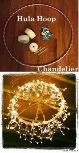 hula hoop chandelier cheap hanging string light chandelier design by diy ready http cheap chandelier lighting