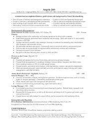 Visual Merchandiser Resume Free Resume Example And Writing Download