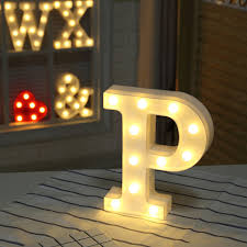 Home Decoration <b>DIY Letter Symbol</b> Sign <b>Heart</b> Plastic LED Lights ...