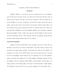 Community assessment paper        REDLANDS  CA   Community Assessment Paper