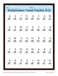 Timed Multiplication Worksheets 0 – 2 | Printable Practice SheetsMultiplication_Timed_0-2 Get Worksheet