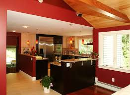 green paint colors kitchen design red