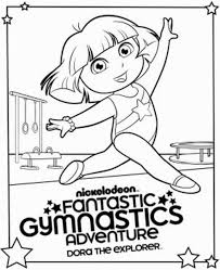 Gymnastics Coloring Sheets Collection Of Gymnastics Coloring Pages Page Prints And