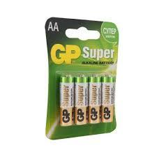 <b>Батарейка GP Super Alkaline</b> АА (LR6) 4 шт. (15А-BC4) GP ...