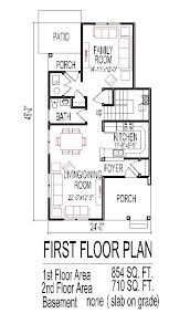 Low Budget House Floor Plans for Small Narrow Lots Bedroom StoryLow Budget Cost Affordable Traditional Home Plans Narrow Lot Tiny Small Story Bedroom
