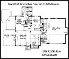 Small Stone Craftsman Cottage House Plan CHP SG   AMS Sq Ft    SG  Main Floor Plan
