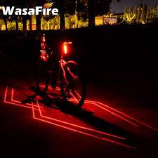 Waterproof Cycling Lamp <b>Folding Laser Bike Light</b> Front Rear Safety ...