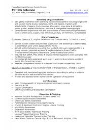 cover letter heavy equipment operator sample resume from patrick johnson professional resumes heavy xsample resume machine sample resume heavy equipment operator