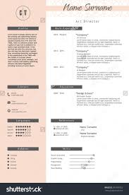 vector creative resume template mini stic pink stock vector vector creative resume template mini stic pink and white style cv light infographic elements