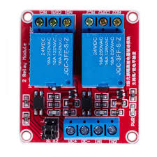 DC <b>24V 2 Channel</b> relay module With optocoupler isolation Support ...