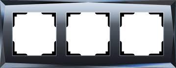 <b>Рамка Werkel Diamant</b> на 3 поста черный WL08-Frame-03 ...