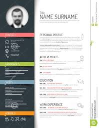 cv resume template stock vector image  cv resume template