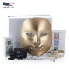 Facial 7 Color <b>Electric LED Mask Photon</b> Therapy Acne Removal ...
