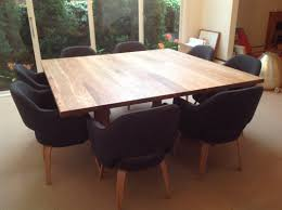 dining room tables chairs square:  custom diy square dining room table seats  with black chairs ideas