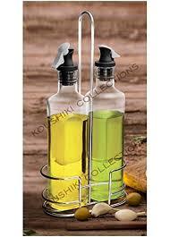 Treo Swift Glass <b>Oil</b> Dispenser with Stand(<b>350ml</b>, Transparent) - <b>Set</b>