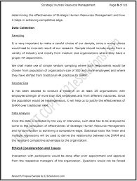 research proposal on strategic human resource management pdf sample should include inputs from a variety of industry and mostly from medium size organizations where
