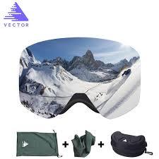 vector brand ski goggles men women anti fog 2 lens uv400 adult winter skiing eyewear professional snowboard set