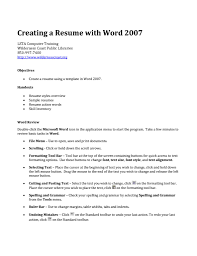 doc 1280720 ms word tutorial how to insert picture in resume how to create a resume in microsoft word creating a resume in