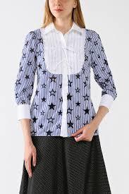 <b>Хлопковая блуза с манишкой</b> BELUCCI - цена ₽ купить в ...