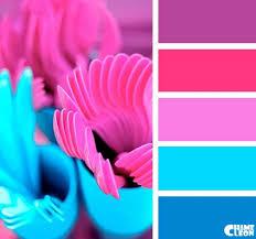 Dark purple, <b>hot</b> pink, purple/pink, <b>light blue</b>, dark blue <b>color</b> palette