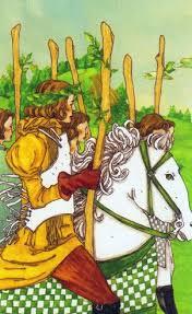 Resultado de imagem para 6 wands tarot