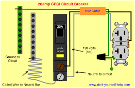circuit breaker wiring diagrams do it yourself help com wiring diagram gfci circuit breaker