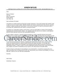 elementary education cover letter template elementary education cover letter