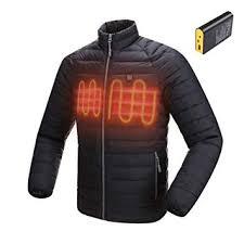 ZeHui Electric <b>Heated Jacket Carbon</b> Fiber Down Jacket Coat ...