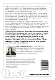 quarterly essay unfinished business sex dom and misogyny quarterly essay 50 unfinished business sex dom and misogyny anna goldsworthy 9781863956024 com books