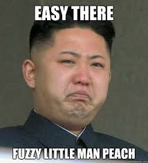 Easy there fuzzy little man peach - Misunderstood North Korea ... via Relatably.com