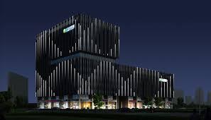 china environmental building futuristic led lighting design building facade lighting