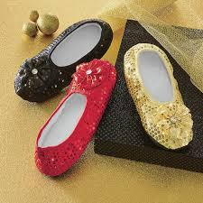<b>Women's Sequined</b> Footie Slippers | ASHRO