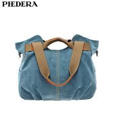 <b>PHEDERA</b> High Quality <b>Canvas Women</b> Shoulder Bags Casual ...