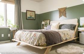 diy furniture cb2 inspired diy mid century modern bed tutorial bedroom furniture cb2