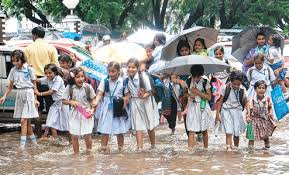 Image result for rain school students