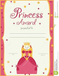the certificate template princess girls birthday stock vector the certificate template princess girls birthday