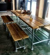 quality small dining table designs furniture dut: small industrial factory style dining table and benches ebay