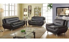 mina modern black leather sofa set black leather sofa
