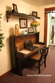 re purposed piano into desk with matching chair and if you notice the shelf is made from the key coverby corys wood creations more cover desk