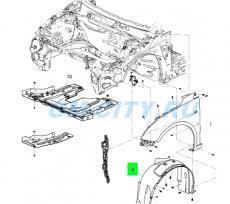 <b>Подкрылок передний правый</b> купить для Chevrolet Cruze ...