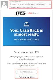 Expecting an Ebates/Rakuten Quarterly Payment? Choose an eGift ...