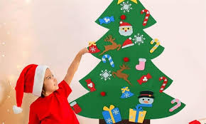 DIY <b>Felt Christmas Tree</b> Set in Choice of Design: One ($15) or Two ...