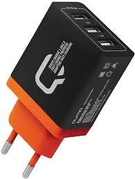 <b>Зарядное устройство QUMO</b> Charger 0019, 30 Вт, 3 USB, 4.2A, 1 ...