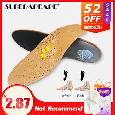 Unisex <b>genuine</b> leather Height Increase Insoles Sweat absorbent ...