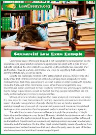 get free commercial law exam examples online  law essays  essays example commercial law exam example