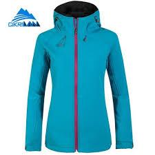 Windproof Water Resistant Softshell Outdoor Jacket Women Hiking ...