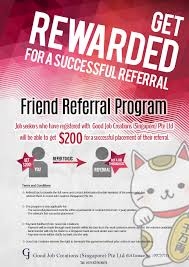 get rewarded for a successful referral|news|good job creations get rewarded for a successful referral