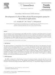 (PDF) Development of a Novel Meso-Scale <b>Electromagnetic pump</b> ...