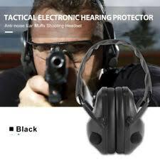 Electronic Ear Protection Ear Muffs <b>Shooting</b> Hunting Sport <b>Anti</b> ...