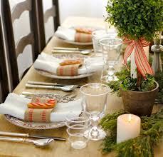 Dining Room Table Setting Rustic Dining Table Setting For Christmas With Natural Rustic